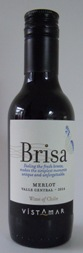Mini Bottle 187.5ml Vistamar MERLOT 'Brisa' 2018 Chile