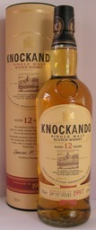 KNOCKANDO  12 Year Old Single Speyside Malt Whisky