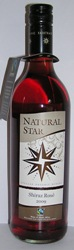 Natural Star SHIRAZ ROSE  2015 Organic & Fairtrade South Africa