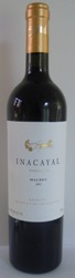 INACAYAL Vineyards MALBEC 2016 Mendoza Argentina 14%
